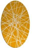 rug #333433 | oval light-orange graphic rug