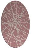 rug #333437 | oval pink rug