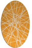 rug #333445 | oval light-orange abstract rug
