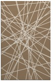 rug #333601 |  mid-brown abstract rug