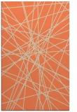 rug #333645 |  orange abstract rug