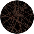 rug #333817 | round brown abstract rug
