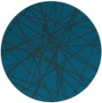 rug #333881 | round blue abstract rug