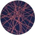 rug #333893 | round blue-violet rug