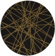rug #333917 | round mid-brown graphic rug