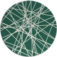 rug #333933 | round green abstract rug