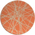 rug #333997 | round orange abstract rug