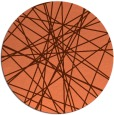 rug #334001 | round orange abstract rug