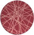 rug #334017 | round pink graphic rug