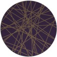 rug #334033 | round mid-brown graphic rug