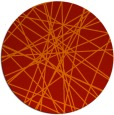 rug #334045 | round red abstract rug
