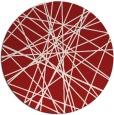 rug #334049 | round red graphic rug