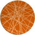 rug #334061 | round red-orange abstract rug