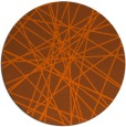 rug #334065 | round red-orange abstract rug