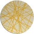 rug #334089 | round yellow abstract rug