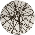 rug #334097 | round brown abstract rug