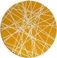rug #334137   round light-orange abstract rug