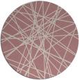 rug #334141 | round pink rug