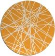 rug #334149   round light-orange abstract rug