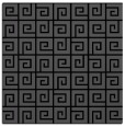 rug #334513 | square black graphic rug