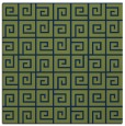 rug #334541 | square blue graphic rug