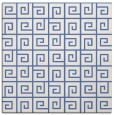 rug #334545 | square blue graphic rug