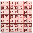rug #334745 | square red graphic rug