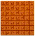 rug #334761 | square red-orange graphic rug