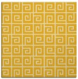 rug #334793 | square yellow graphic rug