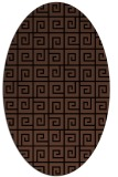 rug #334873 | oval brown rug