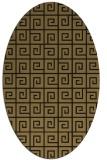 rug #334877 | oval brown rug