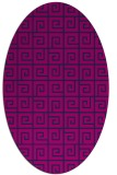 rug #334885   oval blue graphic rug