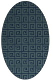 rug #334889 | oval blue popular rug