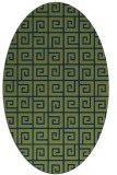 rug #334893 | oval blue graphic rug