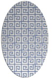 rug #334897 | oval blue graphic rug