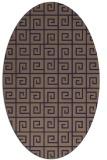 rug #334965 | oval blue-violet graphic rug
