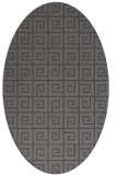 rug #335005   oval brown graphic rug
