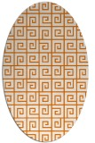 rug #335049 | oval orange graphic rug