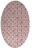 rug #335069 | oval pink graphic rug