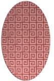 rug #335073 | oval pink graphic rug