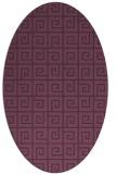 rug #335081 | oval purple graphic rug