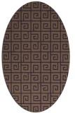 rug #335089 | oval purple graphic rug