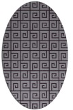 rug #335093   oval purple graphic rug