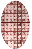 rug #335097 | oval red graphic rug