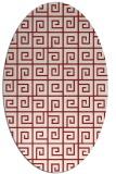 rug #335105 | oval red rug
