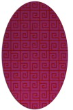 rug #335109 | oval red graphic rug