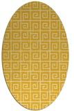 rug #335145 | oval yellow popular rug
