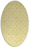rug #335157 | oval yellow rug