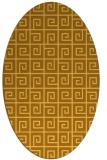 rug #335161 | oval light-orange graphic rug