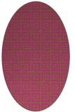 rug #335185 | oval pink graphic rug